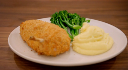 Mary Berry's chicken Kiev with mash potatoes and broccoli recipe on Britain's Best H ...