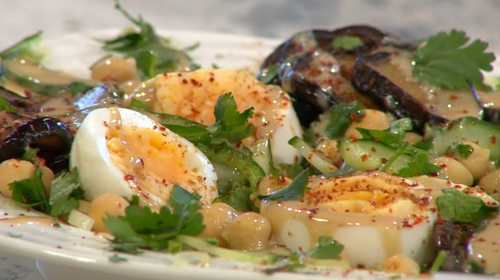 John Gregory Smith's  sabich salad on Sunday Brunch