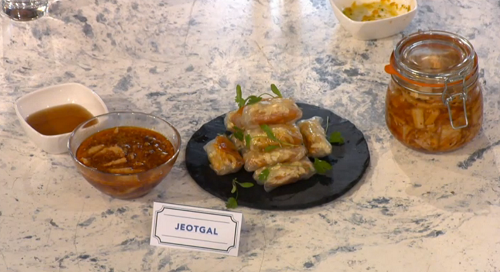 CJ Jackson's Korean jeotgal on Sunday Brunch