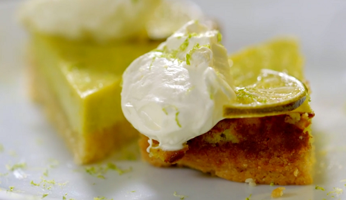 Dr Alison Barnes' key lime pie with hazelnuts and almonds dessert on The Truth About carbs