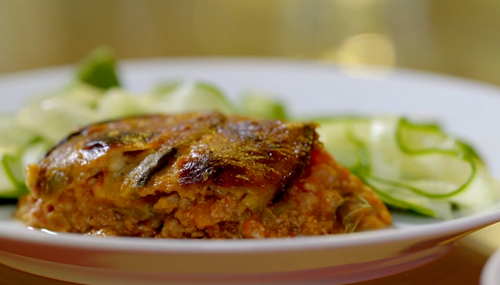 Dr Alison Barnes' aubergine lasagne on The Truth About Carbs