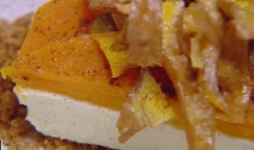 Blue Team's pumpkin cheesecake on MasterChef Australia 2018
