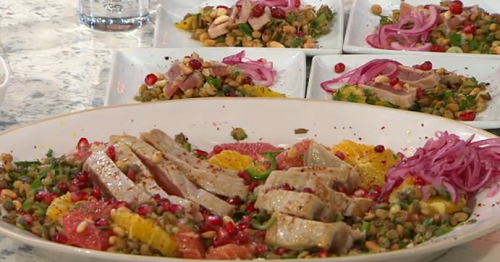 John Gregory Smith's charred tuna and orange salad on Sunday Brunch