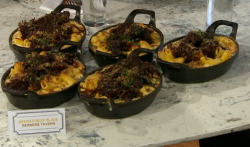 Pritesh Mody braised beef mac n cheese on Sunday Brunch