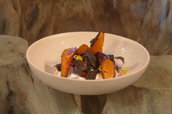 Elizabeth Haigh's coffee roasted carrots with honey beetroot, black Australian truffles an ...