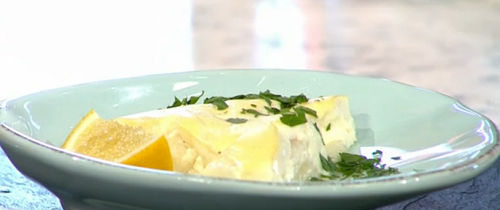 Jenny Crane's fish custard on Sunday Brunch
