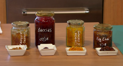 Nadiya Hussain homemade jams  on Sunday Brunch