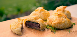 Tilly's meat pies with puff pastry and Italian parma ham on Matilda and the Ramsay Bunch