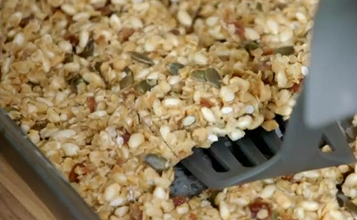 Jo  MacDonald's fruity oat bars with pumpkin seeds on Eat Well for Less?