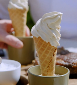 Paul Ainsworth salted Cornish vanilla ice cream on Nadiya's Family Favourites