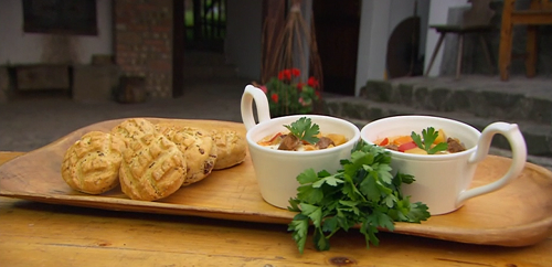 The hairy bikers crackling scones with Hungarian beef goulash soup on Saturday Kitchen