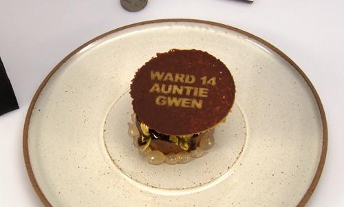 Danny Parker auntie Gwen's chocolate dessert on Great British Menu