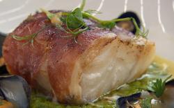 Carol Decker cod wrapped in Parma ham on Celebrity Masterchef 2018