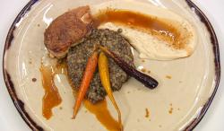 Spencer Matthews guinea fowl dish on celebrity Masterchef 2018