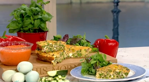 Phil Vickery  frittata with peas and fresh mint  on This Morning
