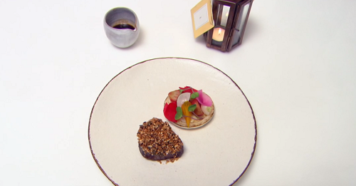 Dan Fletcher life is a splendid gift main course beef with horseradish dish on Great British Menu