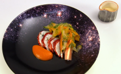 Dan Fletcher For All The Sleepless Nights lobster dish on Great British Menu