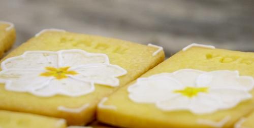 Kim-joy's orange blossom York biscuits on the Great British Bake Off 2018