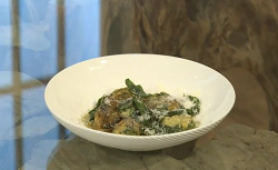 Russell Norman Spinach and ricotta malfatti with fresh pasta on Saturday Kitchen