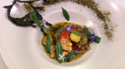 James Cochran Windrush lobster with whisky butter dish on Great British Menu