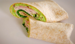 Dale Pinnock's bacon avocado and rocket salad wraps on Eat, Shop, save