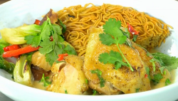 Paul Rankin chicken satay with Thai spices on James Martin's Saturday Morning