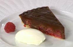 James Martin chocolate and raspberry tart with dark chocolate ganesha on James Martin's Sa ...