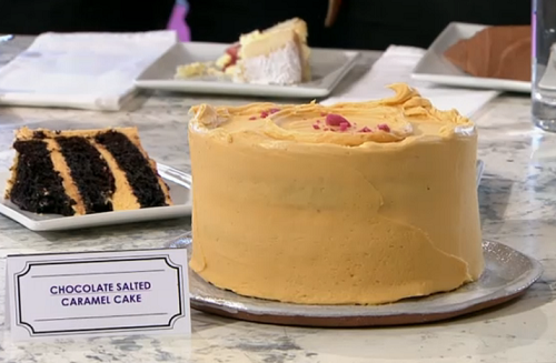 Claire Ptak's chocolate salted caramel cake on Sunday Brunch
