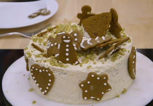 Jon's family Christmas ginger cake  on the Great British Bake Off 2018