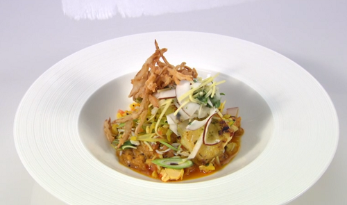 Sabrina Gidda's For Me To You fish curry on the Great British Menu