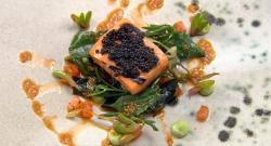 Ryan Simson-Trotman Goodbye Brain Fog fish dish on Great British Menu