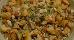 Nigella Lawson Greek potatoes with Feta  cheese on Saturday Kitchen