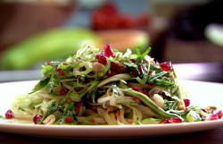 Raymond Blanc green papaya salad with chilli and lime on Saturday Kitchen