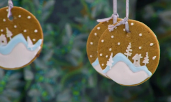 Kim-Joy's Christmas spiced ice chandelier biscuits on the Great British bake Off 2018