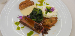 Martin Bayfield lamb with crispy sweetbread main course on Celebrity Masterchef 2018 Final