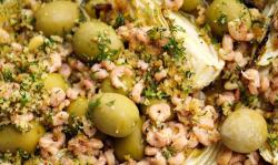 Simon Rimmer Lemon Roasted Fennel With Olives And Brown Shrimp on Sunday Brunch