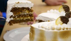Manon's Italian meringue ginger cake on the Great British Bake Off 2018