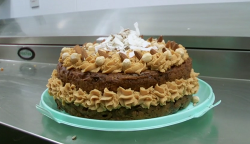 Tony Singh sugar free peanut butter cake on The One Show