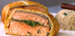 Gordon and Tilly Ramsay's salmon en croute on This Morning