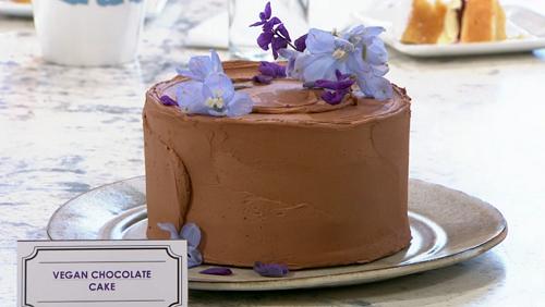 Claire Ptak vegan chocolate cake on Sunday Brunch