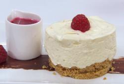 Gemma Collins white chocolate cheesecake with raspberries on Celebrity Masterchef 2018