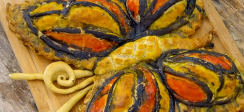 Rahul's butterfly pie on the Great British Bake Off 2018