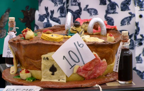 Briony's down the rabbit hole banquet pie on the Great British Bake Off 2018