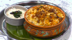 Dhruv Mittal Thalassery fish  biryani on Sunday Brunch