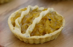 Briony's French onion tarlets on the Great British Bake Off Vegan Week 2018