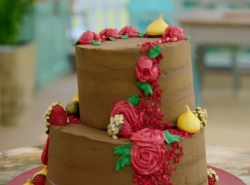 Briony's hazelnut mocha vegan cake on the Great British Bake Off