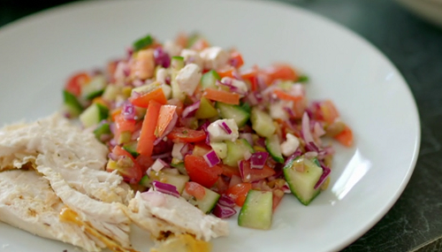 Emma's Greek Salad with Chicken on Eat Well For Less?