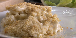 Rick Stein's Macaroni Cheese with Smoky Bacon made using an American recipe from Californi ...
