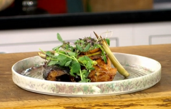 James Martin Blackened cod and mackerel with lemongrass on James Martin's Saturday Morning