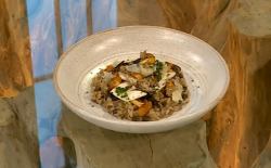 Daniel Clifford wild mushroom risotto on Saturday Kitchen